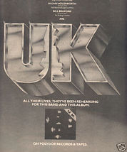 * 1978 UK POSTER TYPE PROMO AD - $9.99