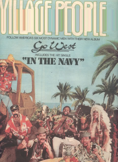* 1979 VILLAGE PEOPLE GO WEST POSTER TYPE AD