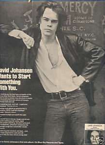 * 1978 DAVID JOHANSEN POSTER TYPE AD