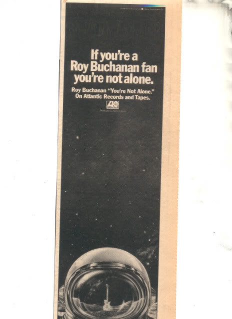 * 1978 ROY BUCHANAN PROMO PRINT PHOTO AD