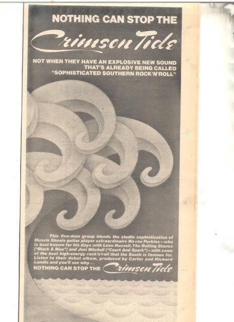 * 1978 CRIMSON TIDE PROMO PRINT PHOTO AD
