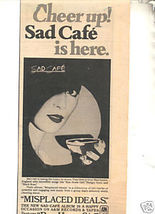 * 1979 SAD CAFE MISPLACED IDEALS PROMO PRINT AD - $7.99