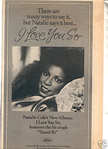* 1979 NATALIE COLE I LOVE YOU SO PROMO PRINT AD