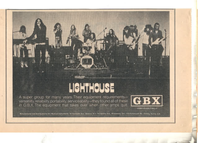 * 1973 LIGHTHOUSE PROMO PRINT PHOTO AD