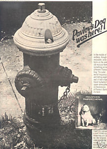 1975 PAVLOVS DOG PAMPERED MENIAL POSTER TYPE TOUR AD