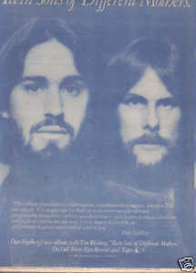* 1978 DAN FOGELBERG TWIN SONS POSTER TYPE AD