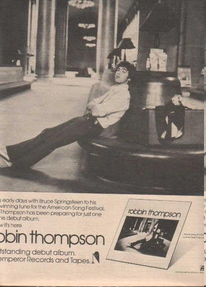 * 1976 ROBBIN THOMPSON POSTER TYPE AD