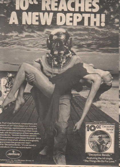 * 1977 10CC 10 CC DECEPTIVE BENDS PROMO AD