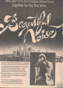 * 1976 NEIL DIAMOND BEAUTIFUL NOISE PROMO AD