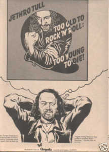 * 1976 JETHRO TULL TOO YOUNG TO DIE PROMO AD