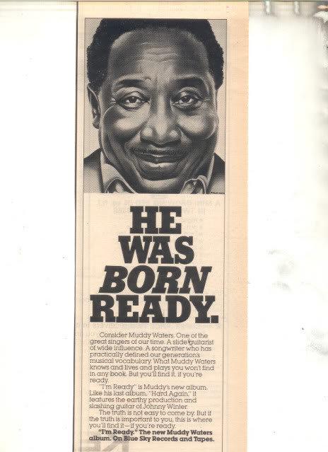 * 1978 MUDDY WATERS IM READY PROMO AD