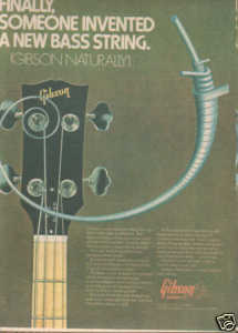 * 1974 GIBSON OBSERVER GUITAR BASS STRINGS PROMO AD