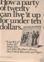 * 1974 ISLEY BROTHERS POSTER TYPE AD - $9.99