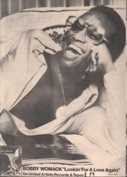 * 1974 BOBBY WOMACK POSTER TYPE PROMO AD