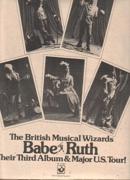 * 1975 BABE RUTH POSTER TYPE PROMO AD