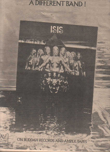 * 1974 ISIS POSTER TYPE PROMO AD