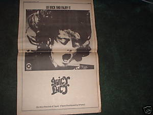 * 1971 JUICY LUCY POSTER TYPE PROMO AD