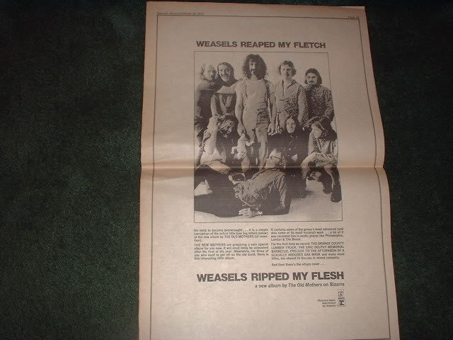 * 1970 THE OLD MOTHERS ZAPPA POSTER TYPE PROMO AD