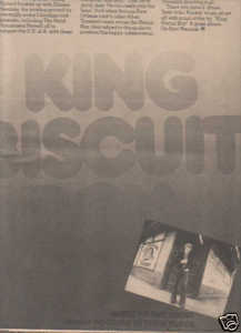 * 1974 RICHARD NEWELL KING BISCUIT POSTER TYPE AD