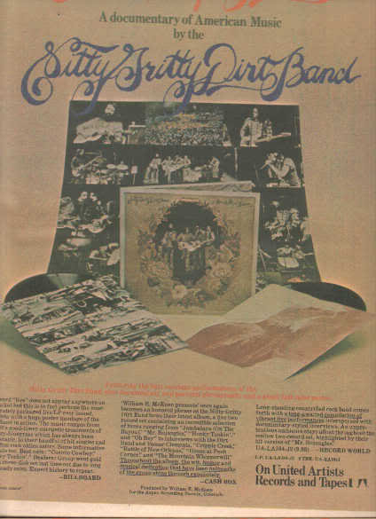 * 1974 NITTY GRITTY DIRT BAND POSTER TYPE AD