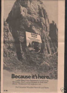 * 1974 MOUNTAIN AVALANCHE PROMO AD