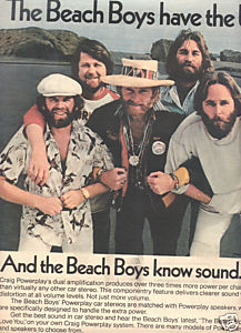 1977 THE BEACH BOYS CRAIG STEREO POWERPLAY AD 2-PAGE
