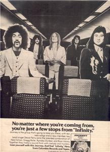 1978 JOURNEY INFINITY POSTER TYPE AD