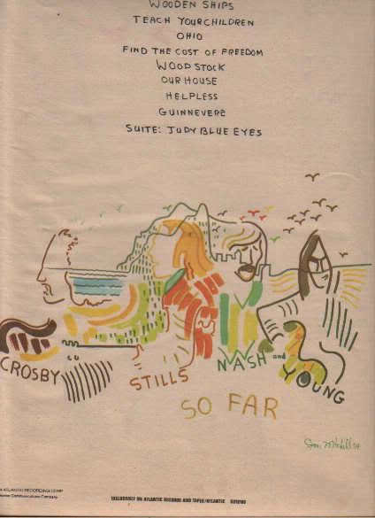 * 1974 CROSBY STILLS NASH & YOUNG DEJA VU PROMO AD