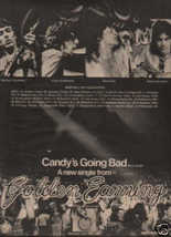 * 1974 GOLDEN EARRING POSTER TYPE TOUR AD WITH DATES - $11.99