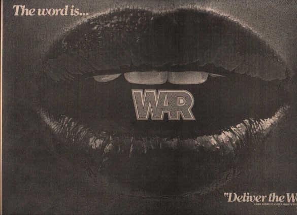* 1973 WAR POSTER TYPE PROMO AD