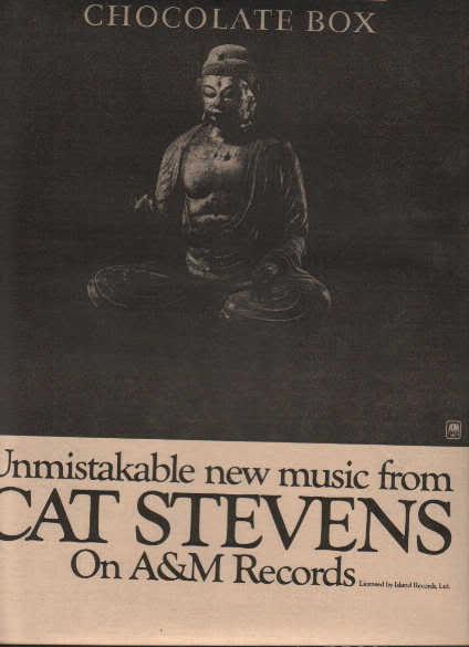 * 1974 CAT STEVENS POSTER TYPE PROMO AD