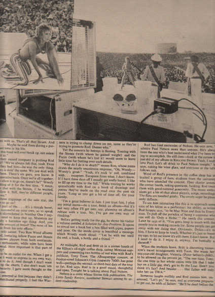 * 1975 ROD STEWART ARTICLE AD WRITE UP 7-PAGE