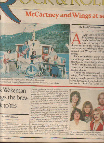 * 1977 PAUL MCCARTNEY ARTICLE AD WRITE UP 3-PAGE
