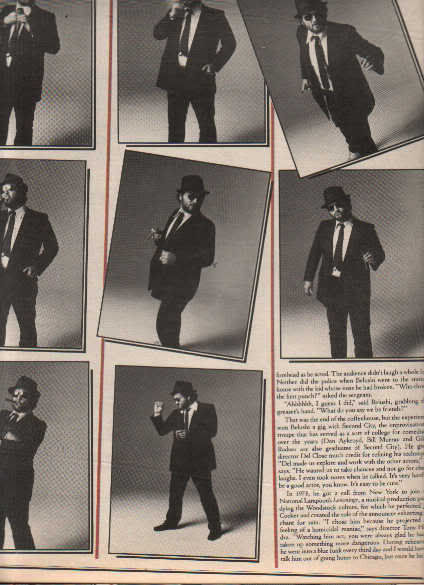 * 1978 JOHN BELUSHI ARTICLE AD WRITE UP 6-PG