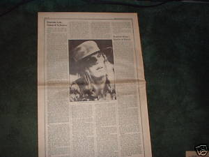 * 1971 ELP EMERSON LAKE PALMER ARTICLE AD WRITE UP