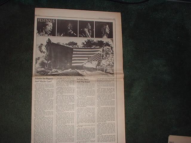 * 1970 JIMI HENDRIX BB KING POP FESTIVAL ARTICLE AD