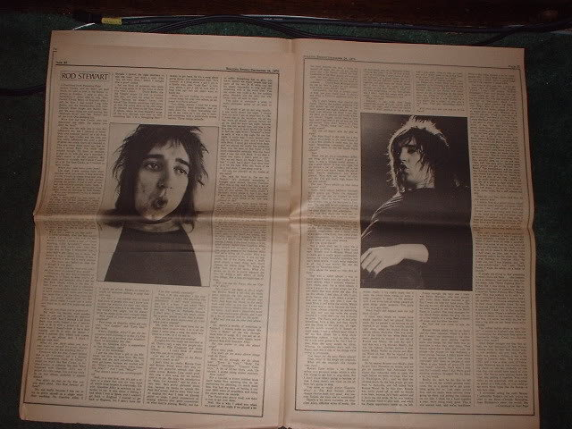 * 1970 ROD STEWART ARTICLE AD WRITE UP-4 PAGE