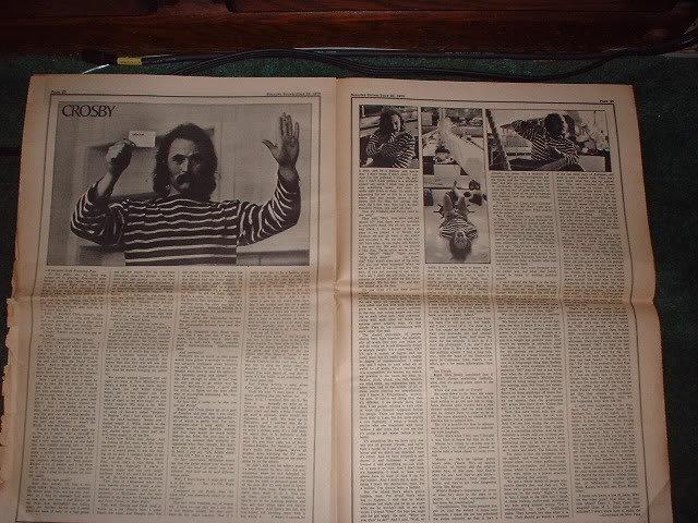* 1970 DAVID CROSBY BOB DYLAN ARTICLE AD WRITE UP-8 PG