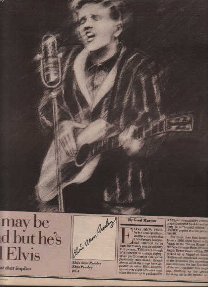 * 1980 ELVIS PRESLEY ARTICLE AD WRITE UP-3 PAGE