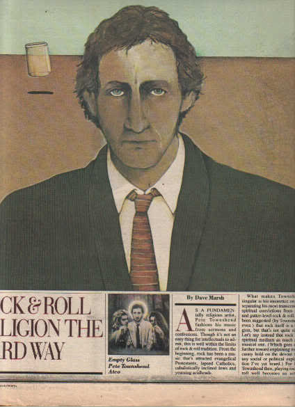 * 1980 THE WHO PETE TOWNSHEND ARTICLE AD WRITE UP-3 PG