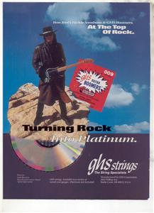 1994 RICHIE SAMBORA BON JOVI GHS GUITAR STRINGS AD
