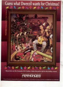 1994 DWEEZIL ZAPPA FERNANDES GUITAR AD