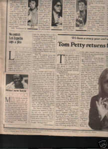 * 1978 LED ZEPPELIN ARTICLE AD WRITE UP 1-PG