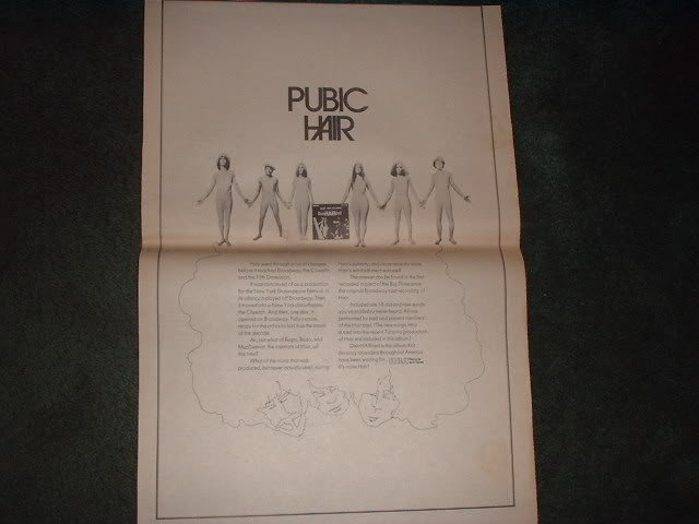 * 1970 PUBIC HAIR DISINHAIRITED POSTER TYPE AD