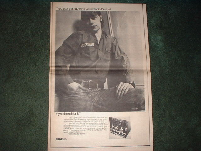 * 1970 FRESH OUT OF BORSTAL POSTER TYPE AD