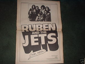 * 1973 RUBEN AND THE JETS POSTER TYPE PROMO AD