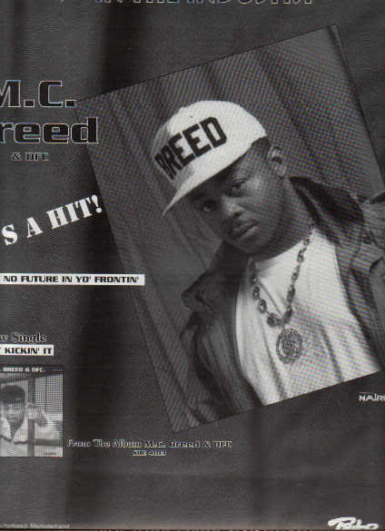 * 1991 MC BREED POSTER TYPE PROMO AD