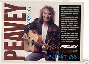 PEAVEY ACOUSTIC GUITAR AD ALBERT LEE 1995