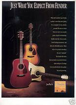 FENDER ACOUSTIC GUITAR AD DG SERIES 1995 - $7.99
