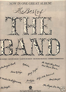 THE BAND THE BEST OF POSTER TYPE PROMO AD 1976